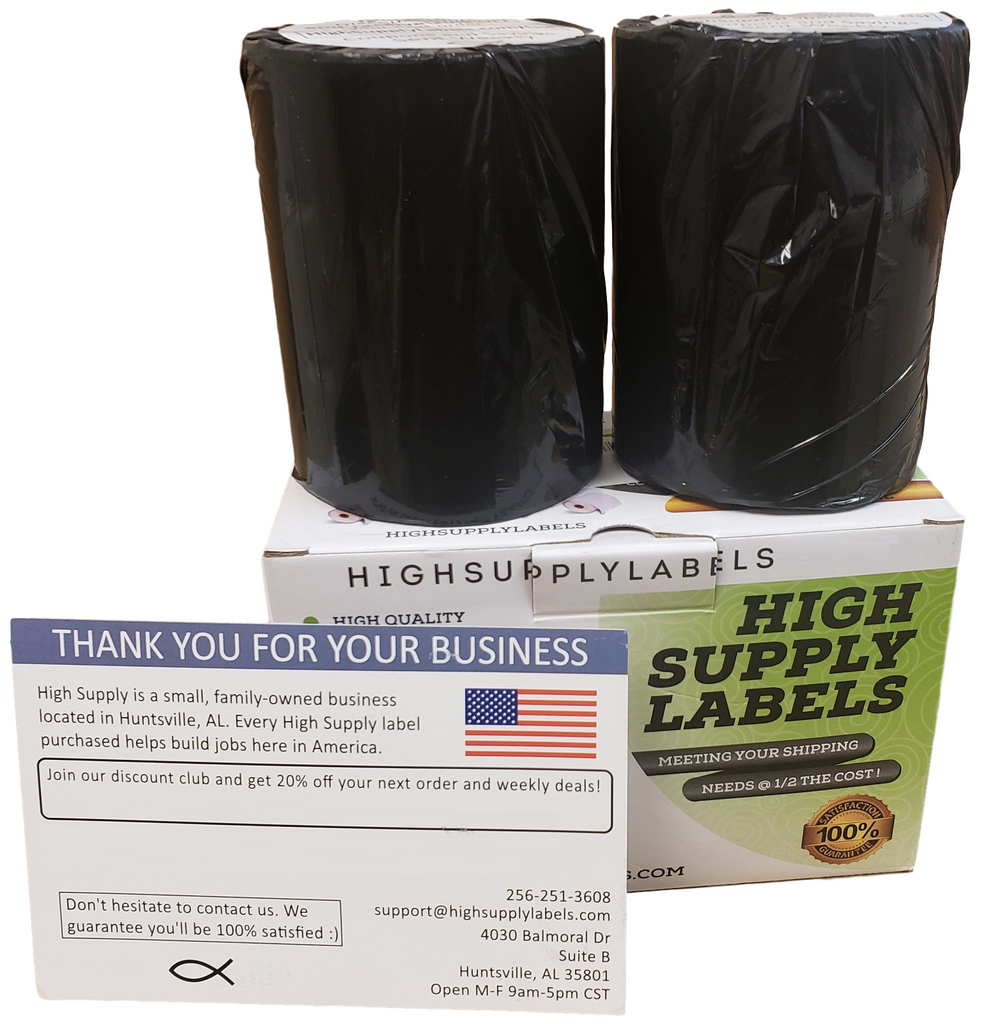 [2 Rolls, 440 Labels] Direct Thermal Address & Shipping Labels Compatible  with Zebra and Dymo 1744907 (4