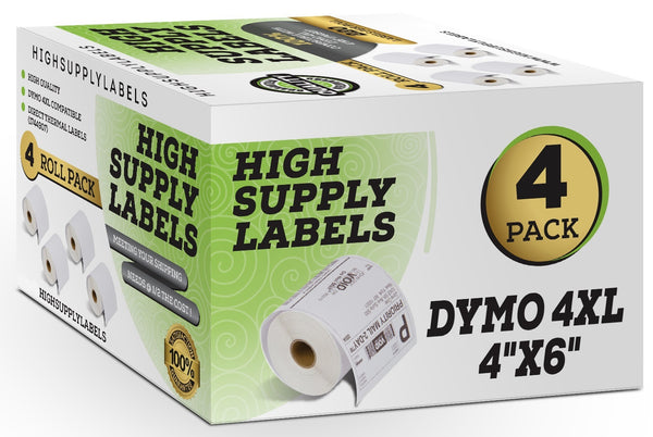Dymo LabelWriter 4XL Compatible Labels (4 Rolls) 1744907 4