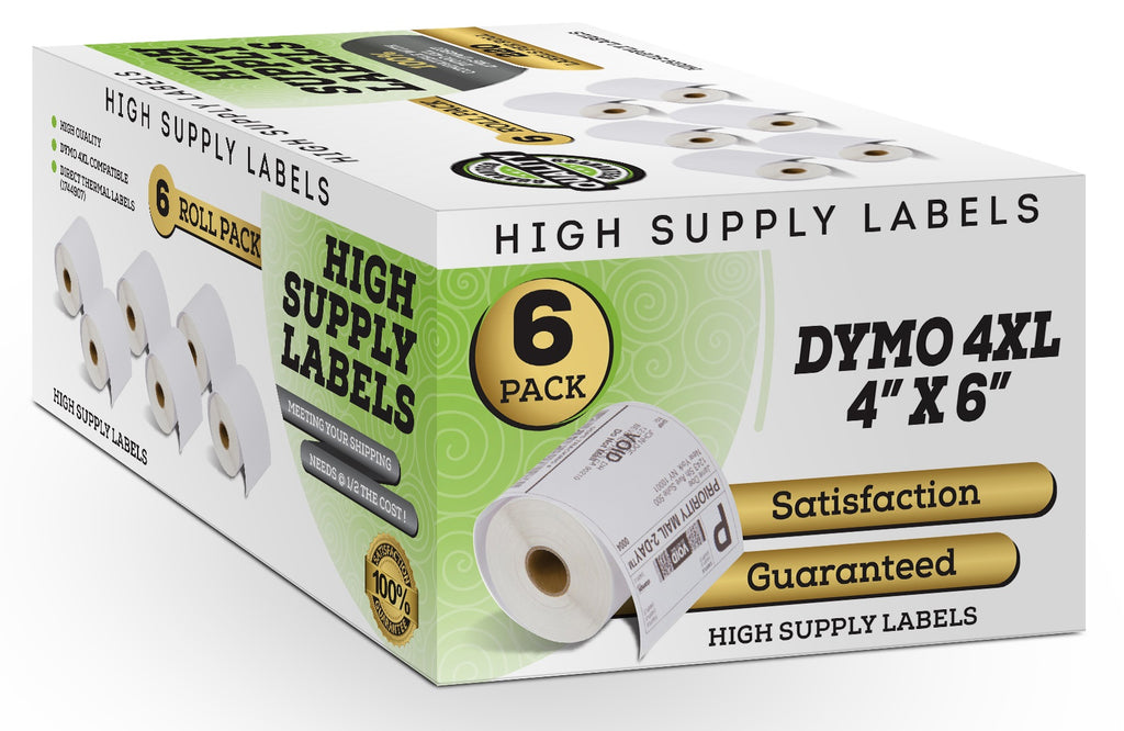 4 x 6 Thermal Postage Labels for DYMO LabelWriter 4XL,8 Rolls-220 Labels per roll. 9527 Product Dymo 1744907 Shipping Labels