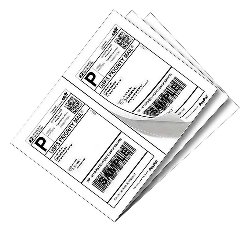 Best Print 200 Half Sheet - Best Print Shipping Labels - 5-1/2