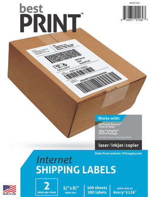 15f1e49766d00 250 PayPal / eBay Labels with Paper Receipts for Laser /Ink Jet ...