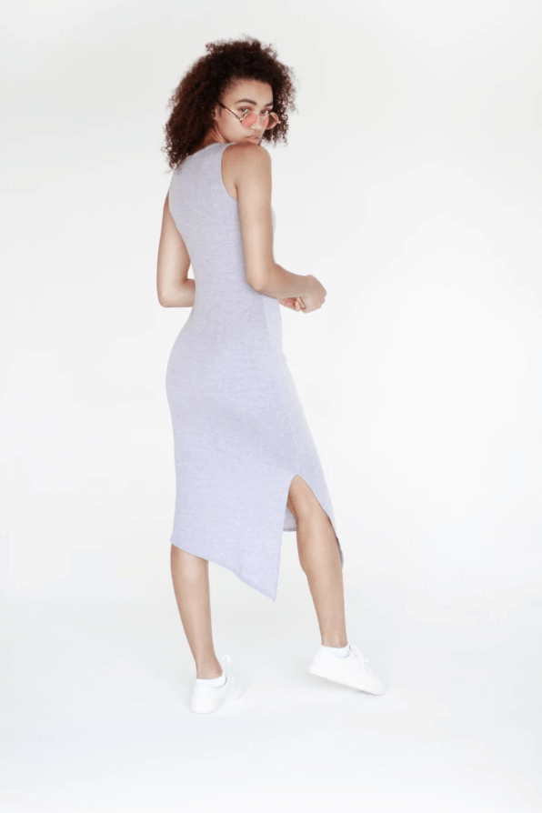 Gray Bodycon Midi Dress
