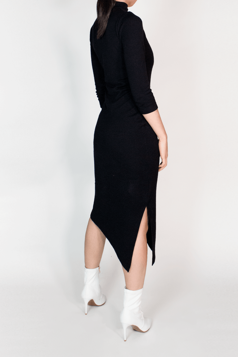 3/4 Sleeve TENCEL™ Lyocell Midi Bodycon Dress