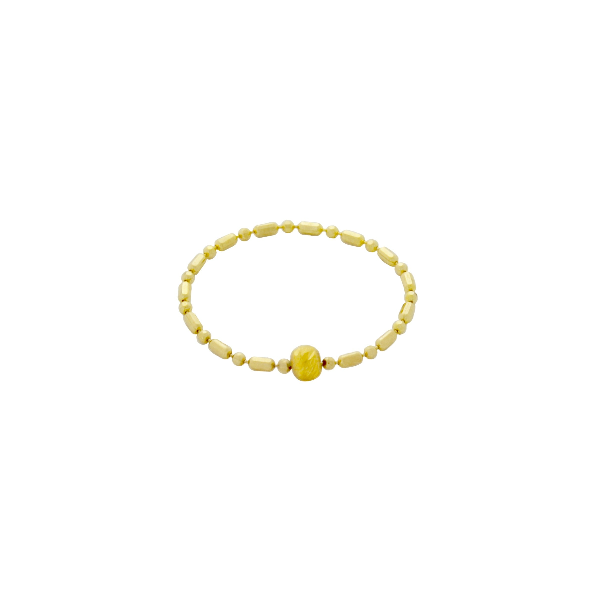Fidget Yellow Gold Ring