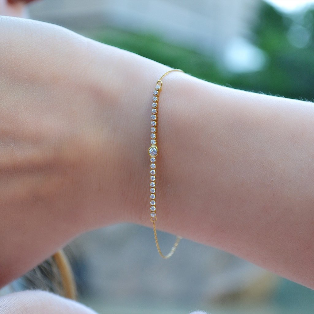 Yellow Gold Stud Bracelet