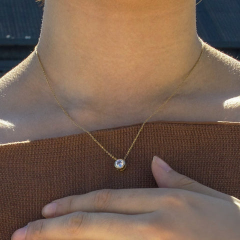 Spota Gold Pendant - by Claurete Jewelry at Claurete.com