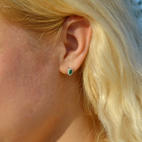 The Mes Me Rize Emerald Earrings