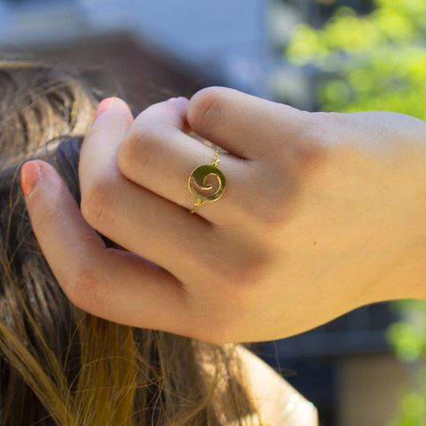 Row Catena Gold Ring - by Claurete Jewelry at Claurete.com
