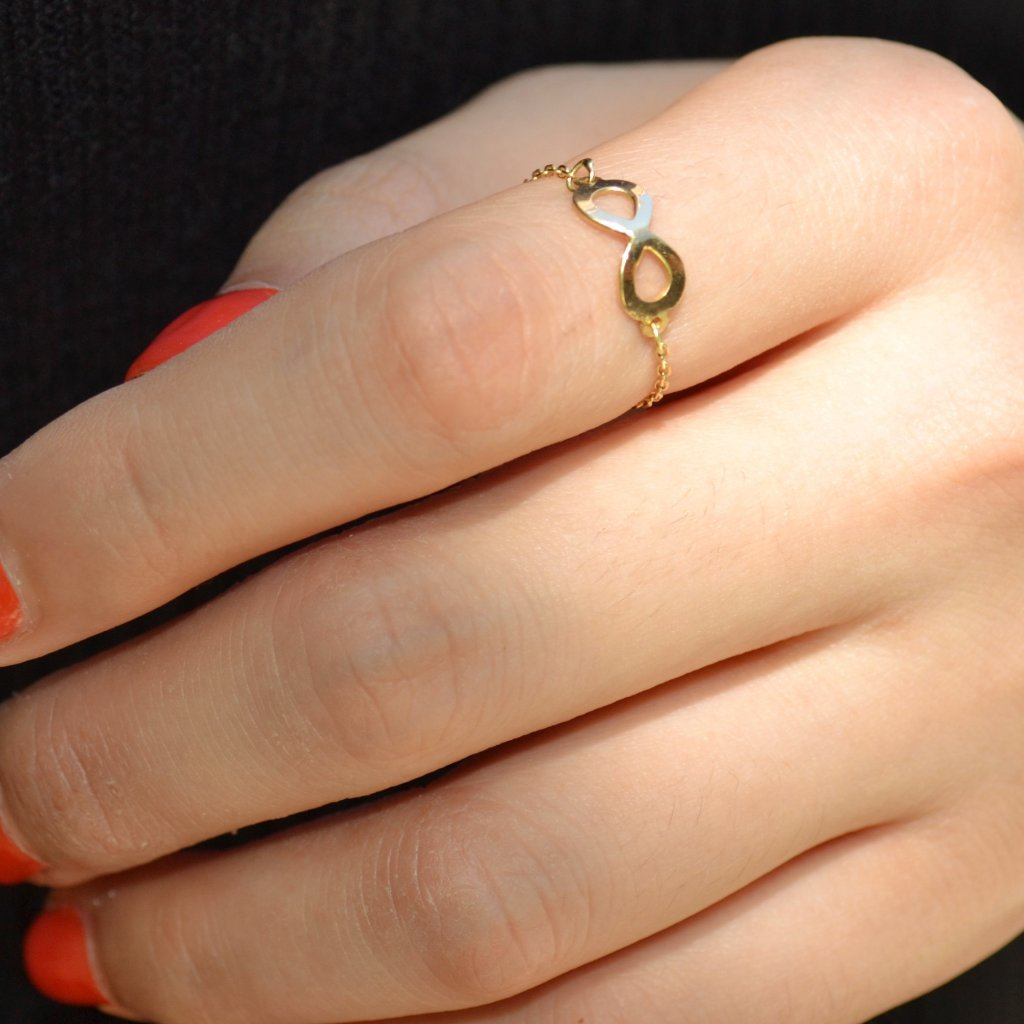 Infinity Catena Gold Ring - by Claurete Jewelry at Claurete.com