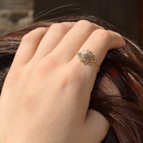 Rosey Catena Gold Ring - by Claurete Jewelry at Claurete.com