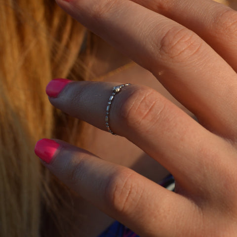 Fidget White Gold Ring
