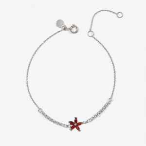 Flower Zart II 18K Solid White Gold Bracelet - by Claurete Jewelry at Claurete.com