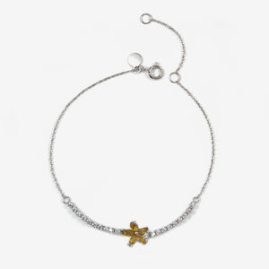 Flower Zart I 18K Solid White Gold Bracelet - by Claurete Jewelry at Claurete.com