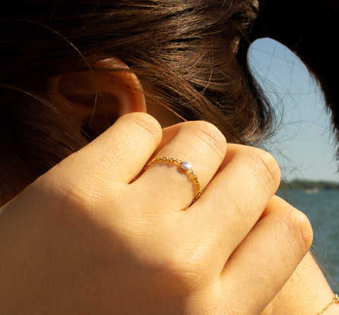 Spota I Gold Ring - by Claurete Jewelry at Claurete.com