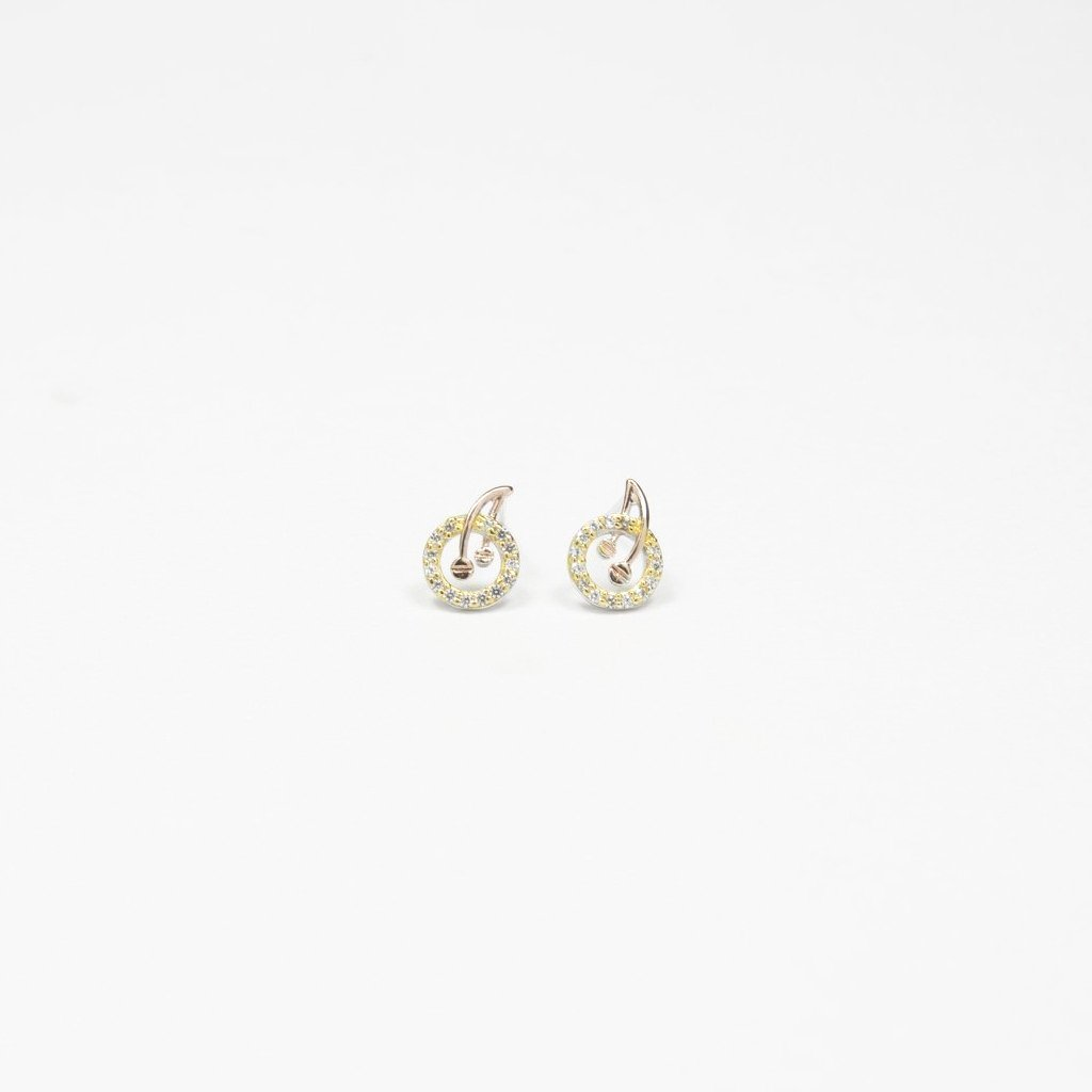 Cherry Goujon Gold/Rose Gold Earrings - by Claurete Jewelry at Claurete.com