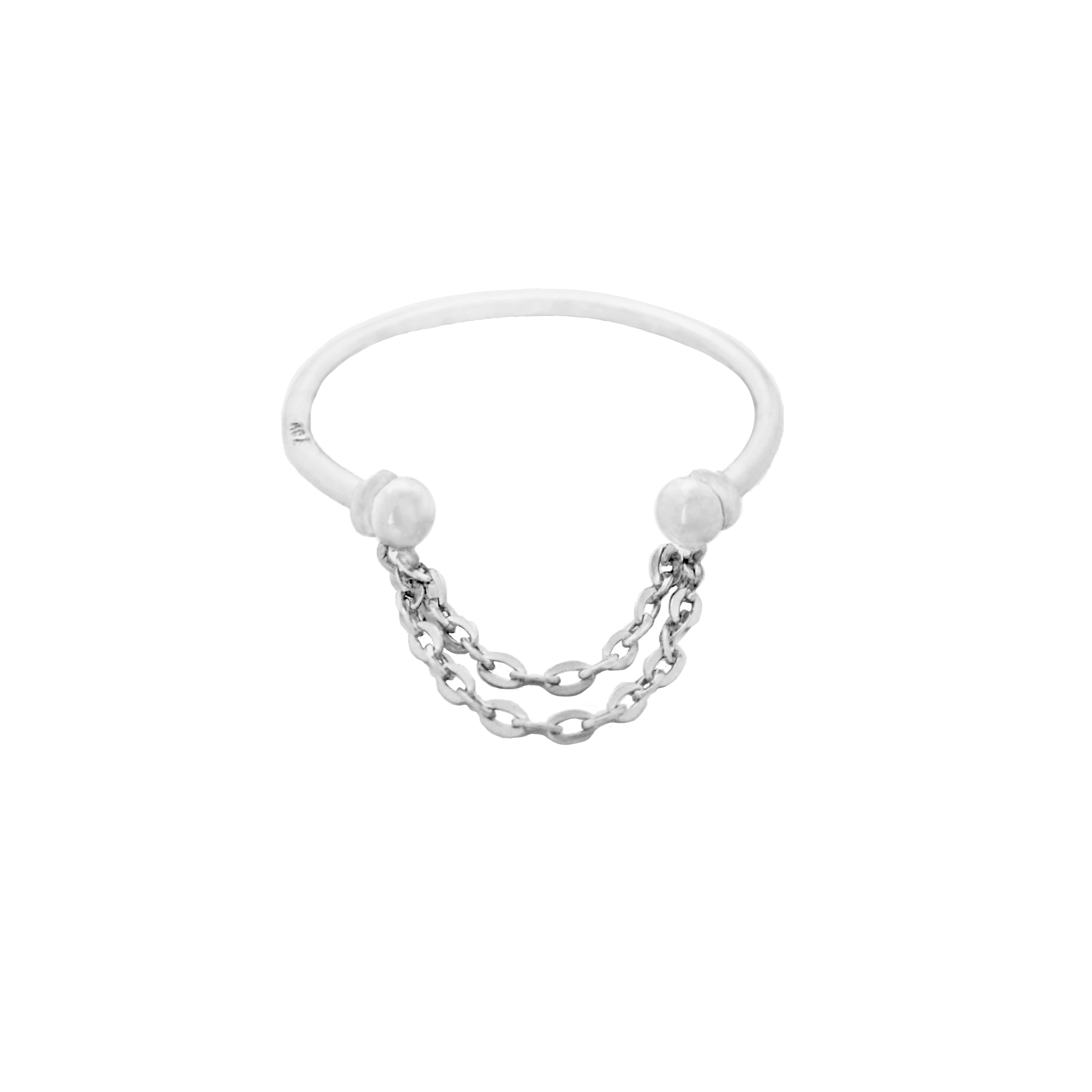 Luie Chain White Gold Ring