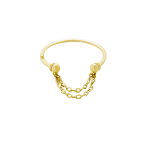 Luie Chain Yellow Gold Ring