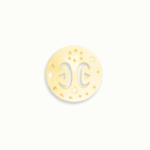 Pisces Gold Vermeil Zodiac Pendant - by Claurete Jewelry at Claurete.com