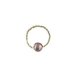 Pink Galaxy Gold Ring