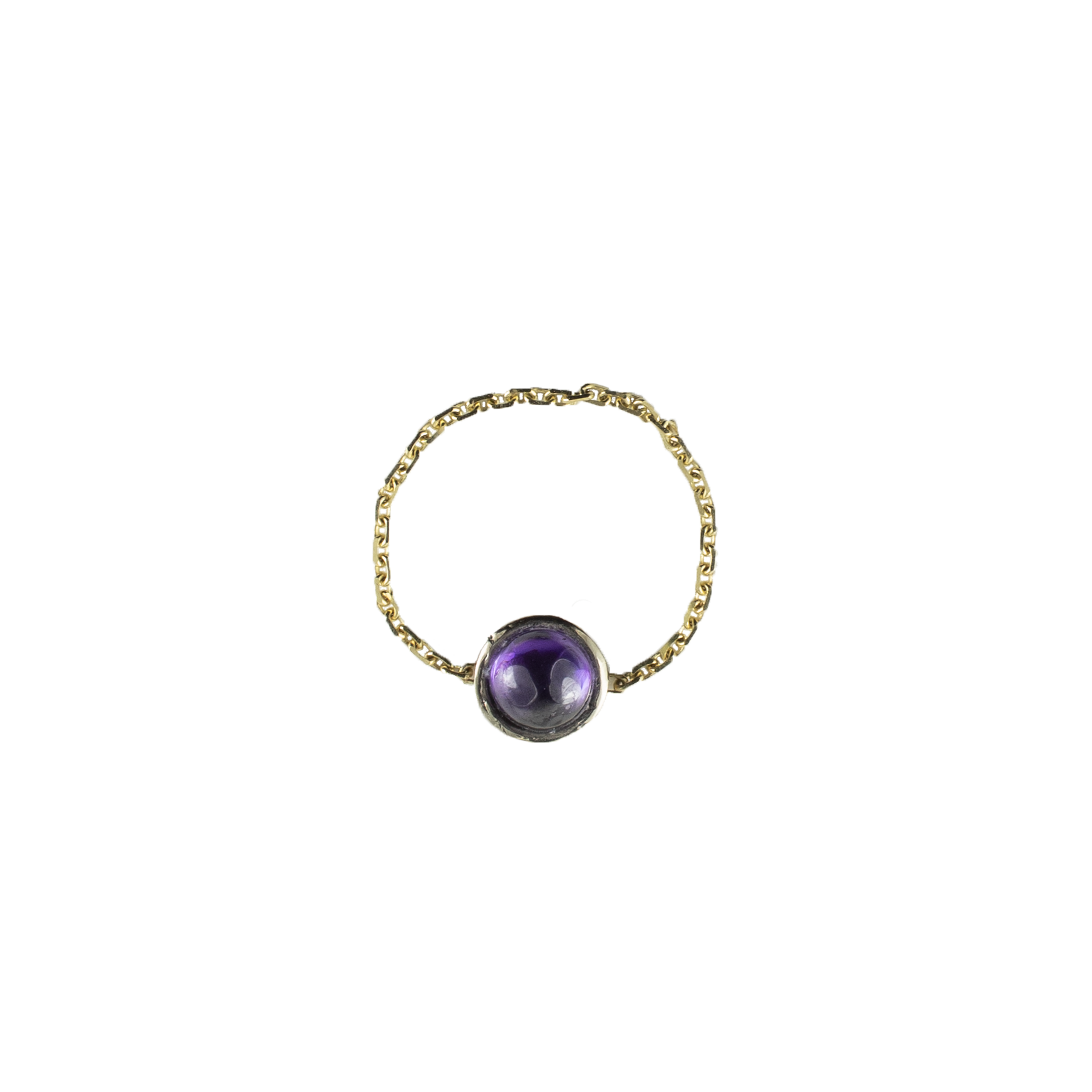 Purple Galaxy Gold Ring