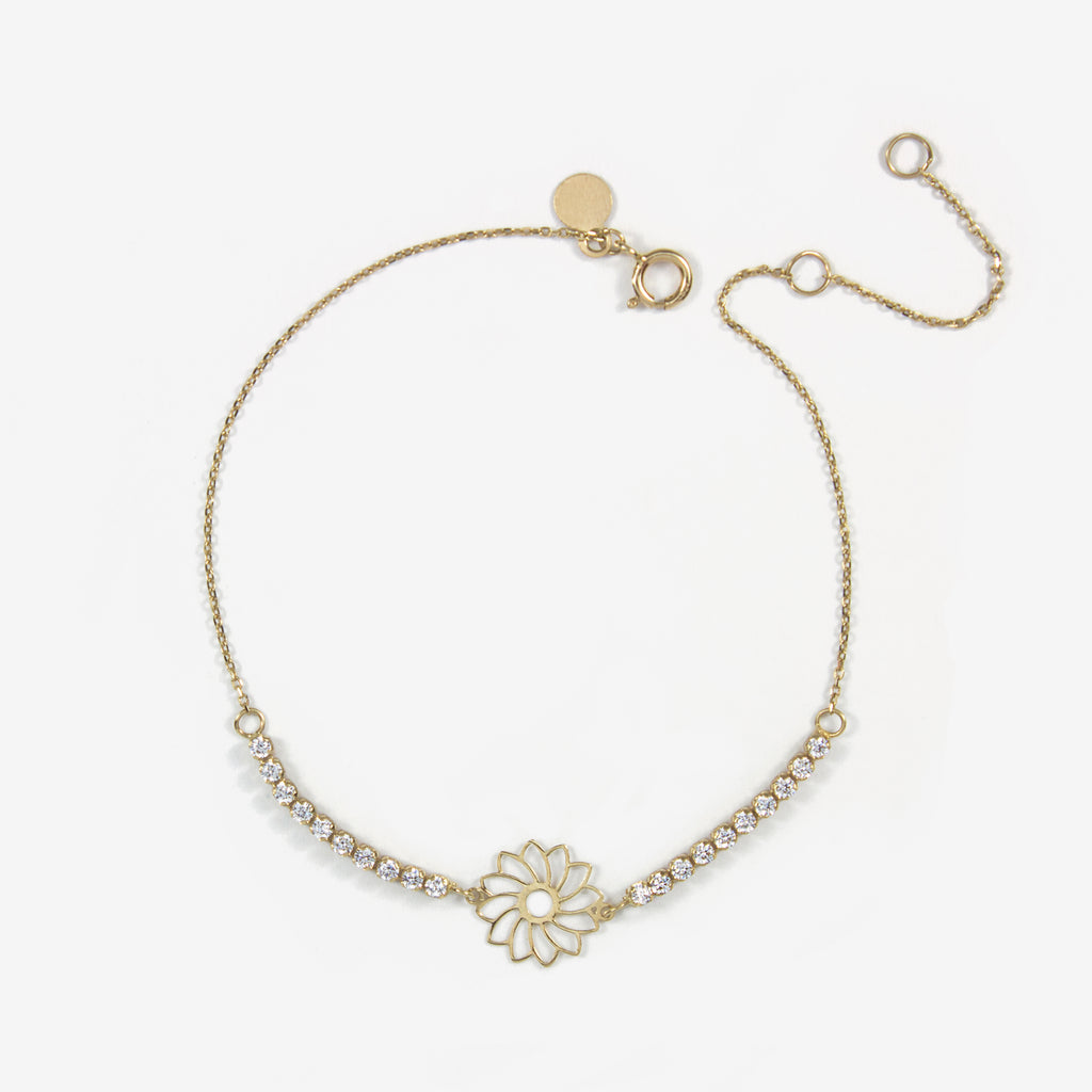 Rosey Zart Gold Bracelet - by Claurete Jewelry at Claurete.com