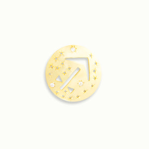 Sagittarius Gold Vermeil Zodiac Pendant - by Claurete Jewelry at Claurete.com