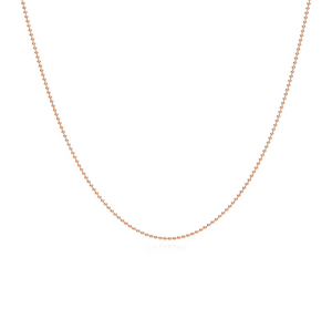 Beaded Plain Gold Chain