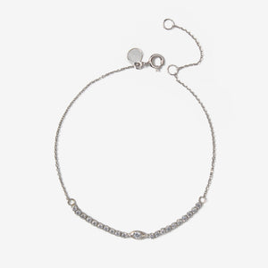 White Gold Evil Eye Zart Bracelet - by Claurete Jewelry at Claurete.com