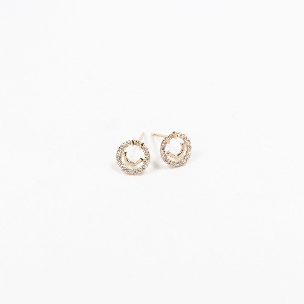 Smiles Goujon Silver Earrings - by Claurete Jewelry at Claurete.com