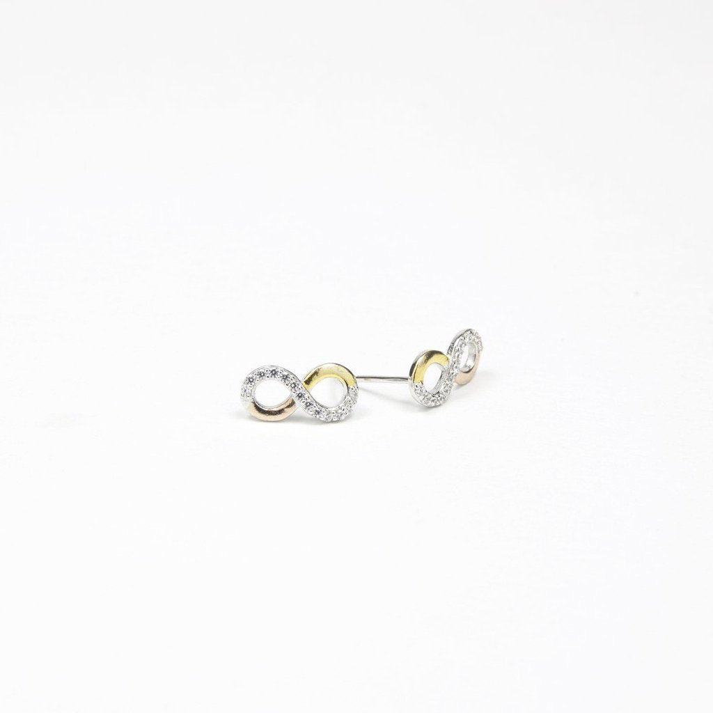 Triple Infinity Silver Goujon - by Claurete Jewelry at Claurete.com