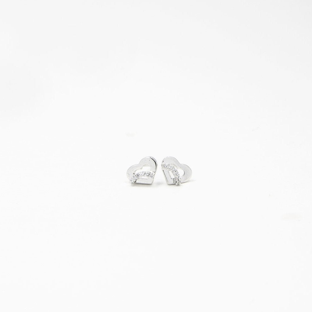 Heart Goujon Silver Earrings - by Claurete Jewelry at Claurete.com