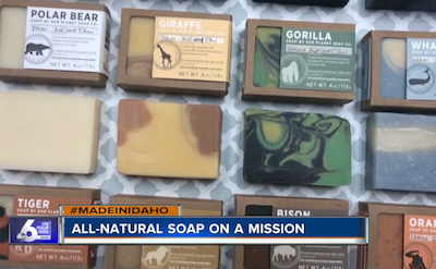 Local soapmaker using suds to save the planet, one species at a time.