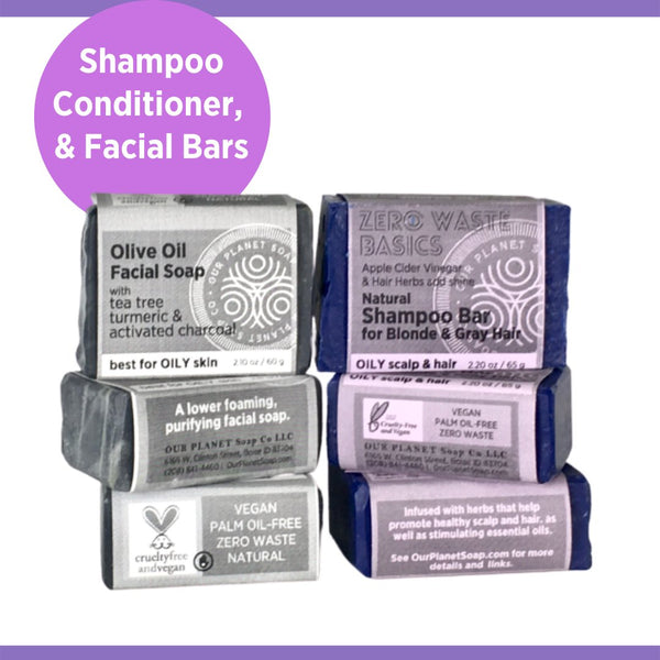 Shampoo Bars, Conditioner Bars, Facial Soap