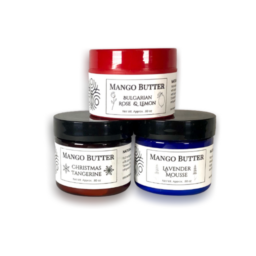 Whipped Mango Butter Mousse Clearance - Lavender, Tamanu, Fir Tangerine, or Rose Lemon