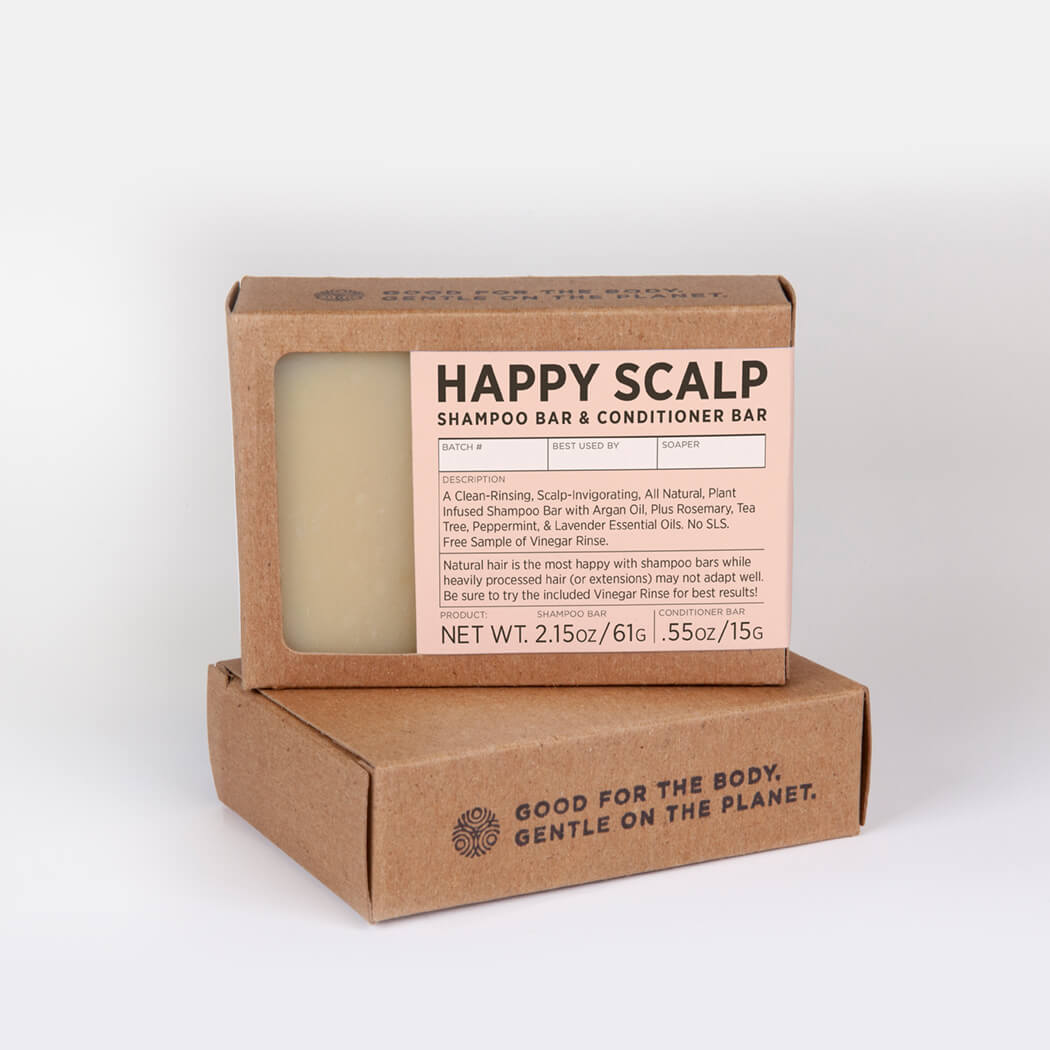 HAPPY SCALP SHAMPOO BAR + CONDITIONER BAR