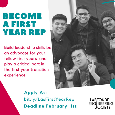 Apply to be First Year Rep