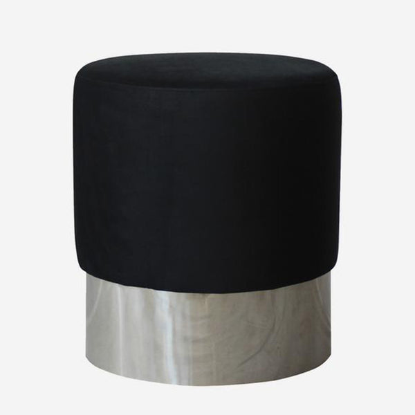 Velvet Chrome Stool