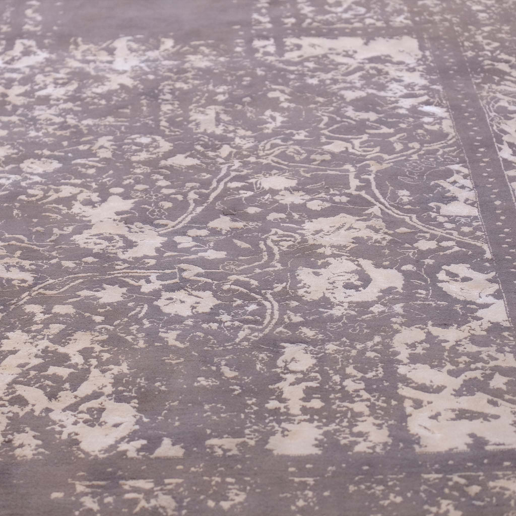 Grey and white large Persian rug