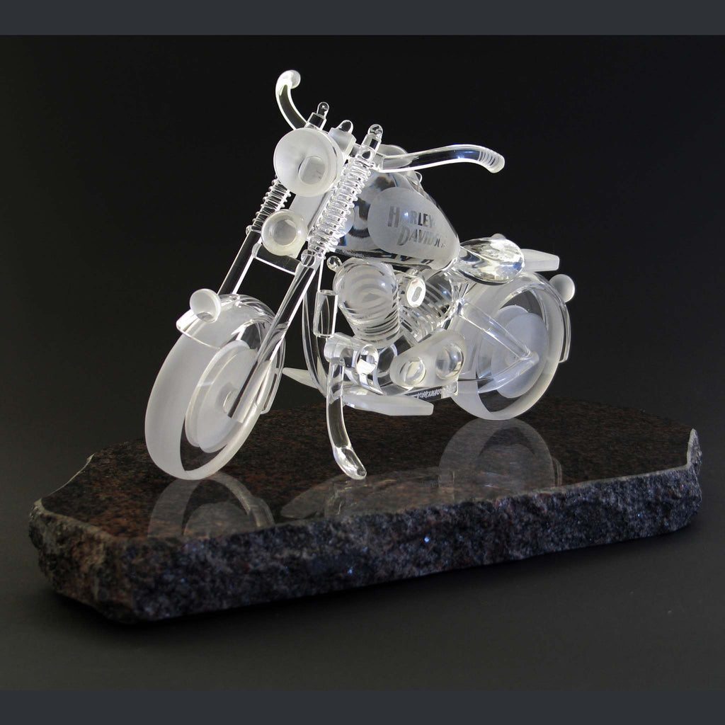 Motorcycle on stone stand (SOLD)