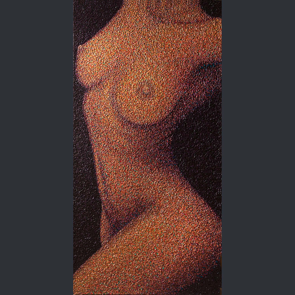 Painting of a nude female torso