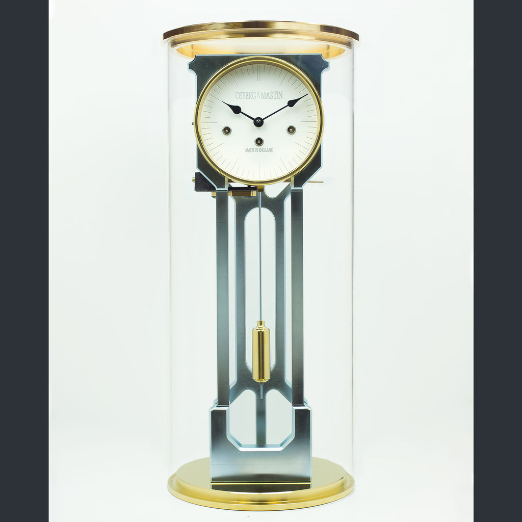 Osberg and Martin Skeleton Clock - Gold and Silver