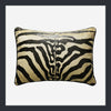 Zebra print rectangular cushion