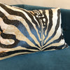 Zebra print Andrew Martin rectangular cushion