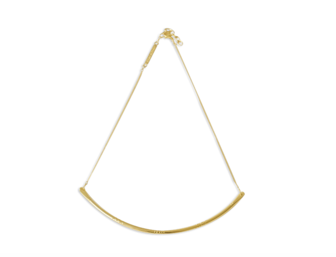 Ocean Republic | Paddlefish necklace small gold