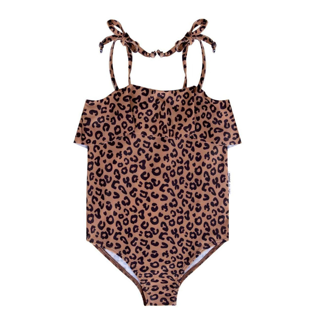 Maed for Mini | Brown leopard swimsuit