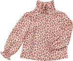 Maed for Mini | Red leopard blouse