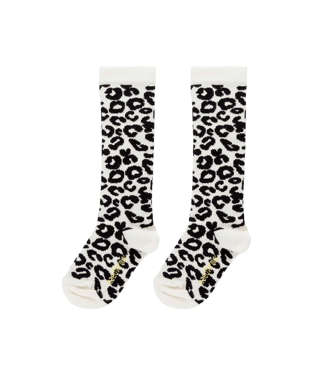 Maed for Mini | White Leopard | Knee Socks