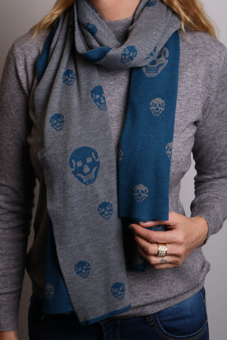 Skull scarf cashmere