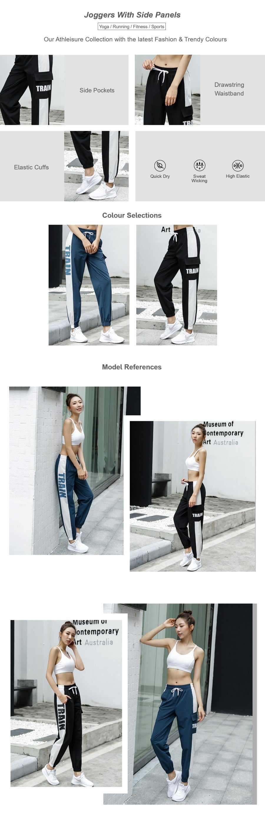 Joggers with Side Pocket