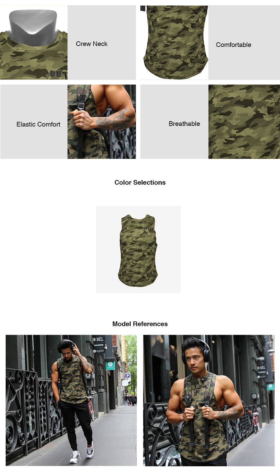 Camouflage Sport Tank Top